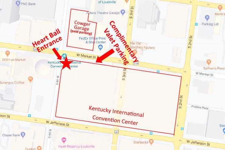 2020 Heart Ball Parking Map